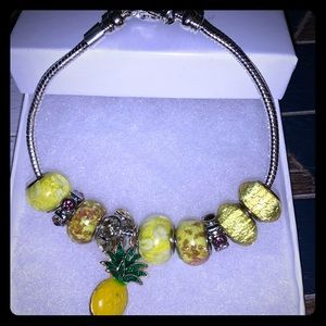 Yellow pineapple bracelet